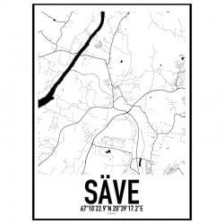 Säve Karta Poster