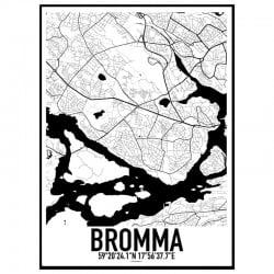 Bromma Karta Poster