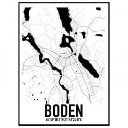 Boden Karta Poster