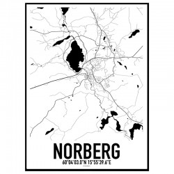 Norberg Karta Poster
