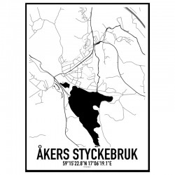 Åkers Styckebruk Karta