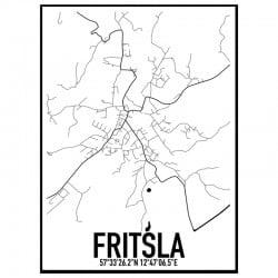 Fritsla Karta Poster