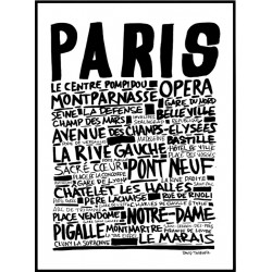 Paris Sketch Poster