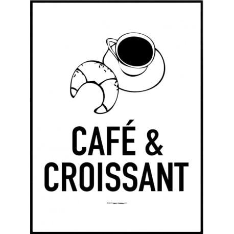 Café & Croissant Poster