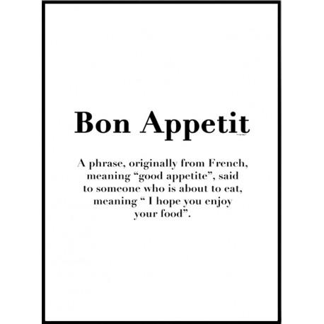 Bon Appetit Poster