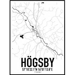 Högsby Karta Poster