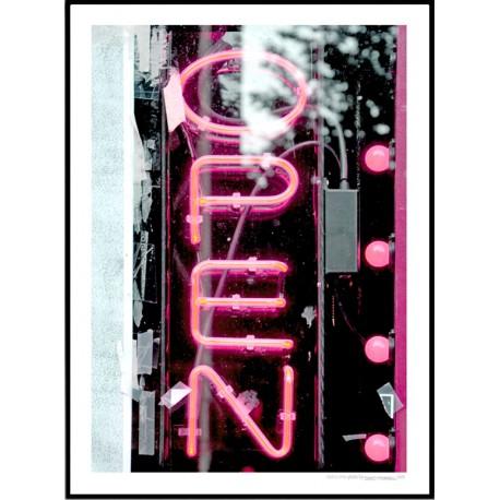 Open Neon Poster