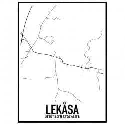 Lekåsa Karta
