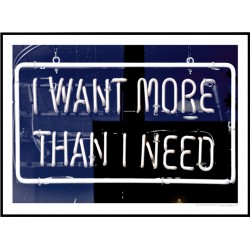 I Want More Than I Need