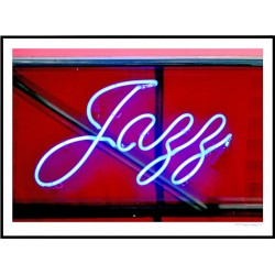 Jazz Neon Poster