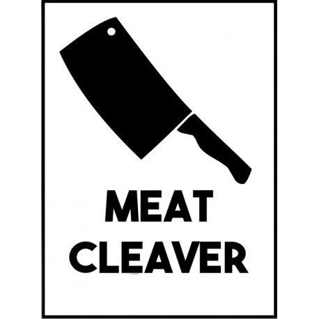 Meat Cleaver Poster