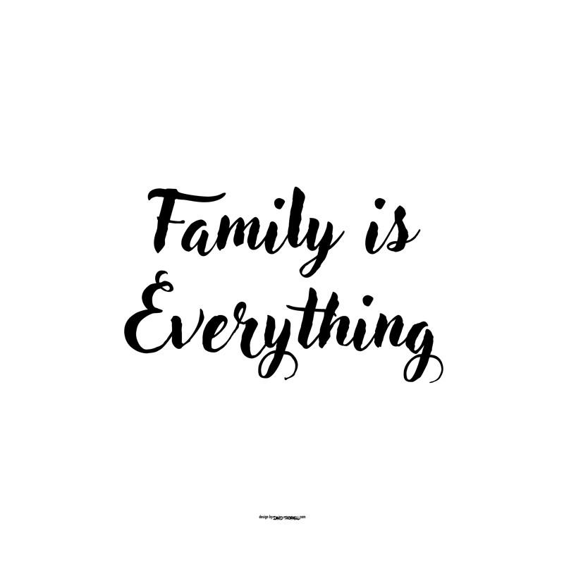 family is everything poster k p inredning online hos wallstars snabba leveranser. Black Bedroom Furniture Sets. Home Design Ideas