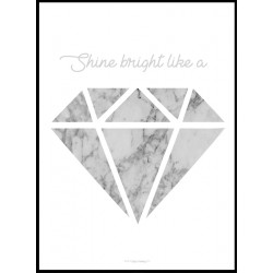 Grey Marble Diamond