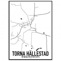 Torna Hällestad Karta