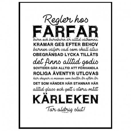 Farfars Regler Poster