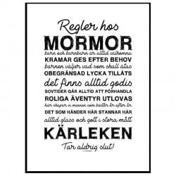 Mormors Regler Poster
