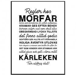 Morfars Regler Poster