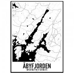 Åbyfjorden Karta