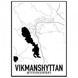 Vikmanshyttan Karta