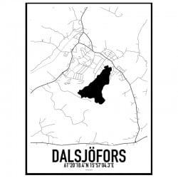 Dalsjöfors Karta Poster