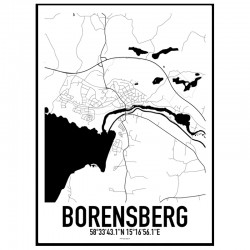 Borensberg Karta