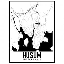 Husum Karta Poster
