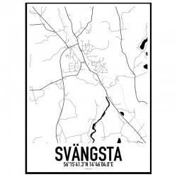 Svängsta Karta Poster