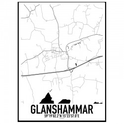 Glanshammar Karta