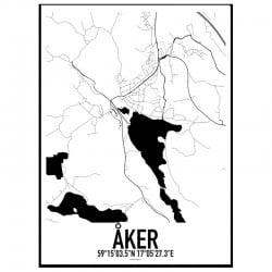 Åker Karta