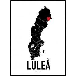Luleå Heart Poster
