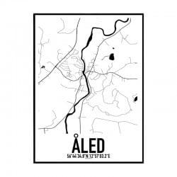 Åled Karta