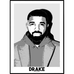 Drake Sketch Poster