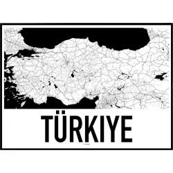 Turkiet Karta Poster