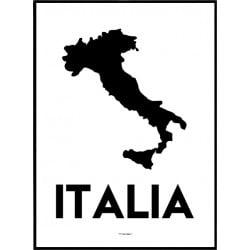 Italien Karta Poster
