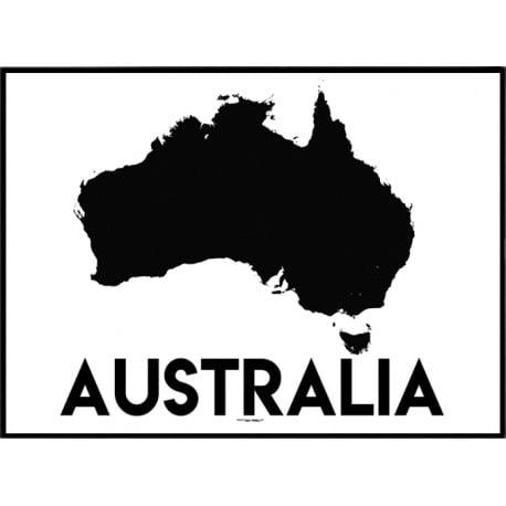 Australien Karta Poster