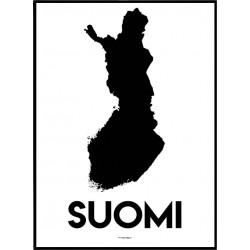 Suomi Karta Poster