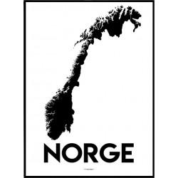 Norge Karta Poster