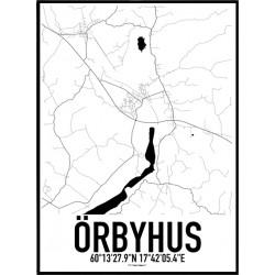 Örbyhus Karta Poster