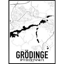 Grödinge Karta Poster