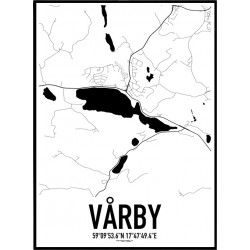 Vårby Karta Poster