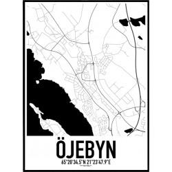 Öjebyn Karta Poster