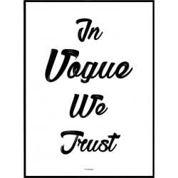 Trust Vogue Poster