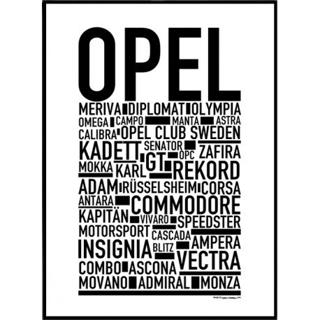 Opel Poster