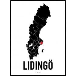Lidingö Heart Poster