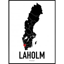 Laholm Heart Poster