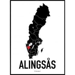 Alingsås Heart Poster