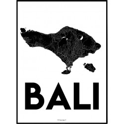 Bali Karta Poster