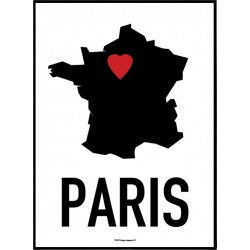 Paris Heart Poster