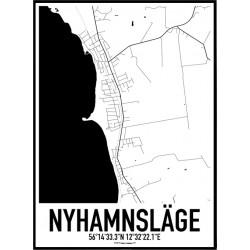 Nyhamnsläge Karta
