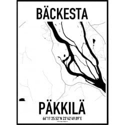 Bäckesta Karta Poster